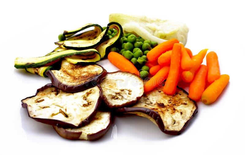 Zamyka w górę Piec na grillu świeżych warzyw fotografia royalty free