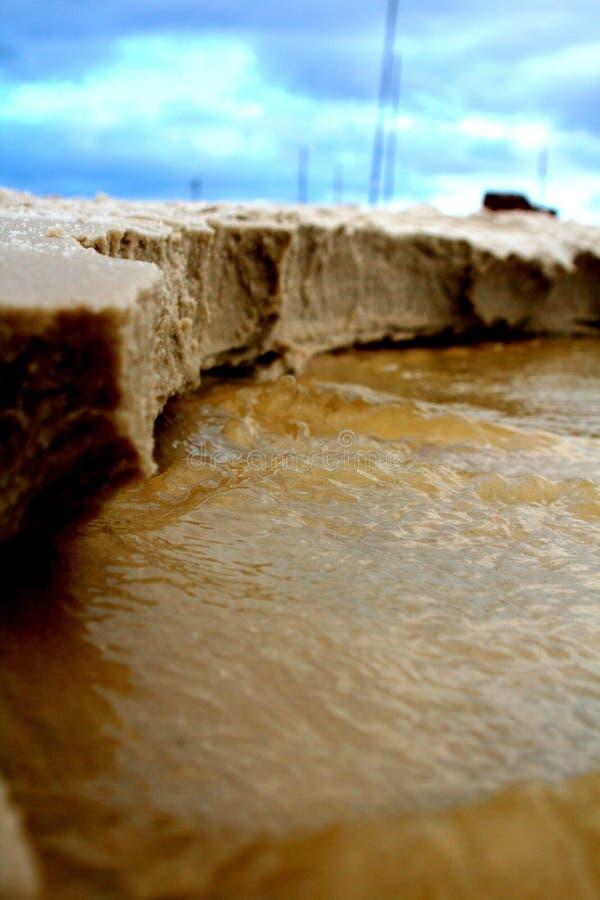 Zamyka w górę plażowej erozji zdjęcie royalty free