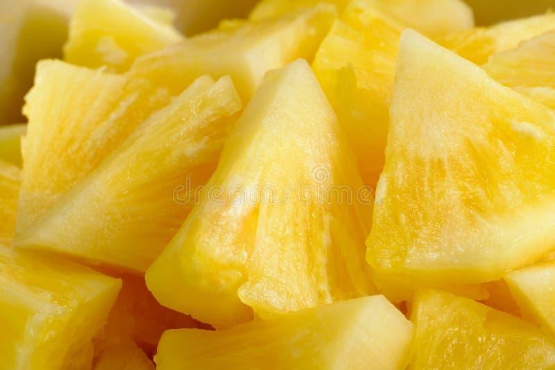 Zamyka w górę plasterka tła ananasowej tekstury zdjęcie stock