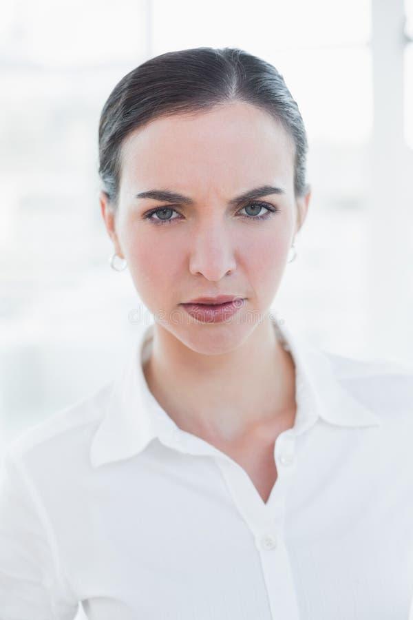 Zamyka w górę portreta elegancki bizneswoman obrazy royalty free
