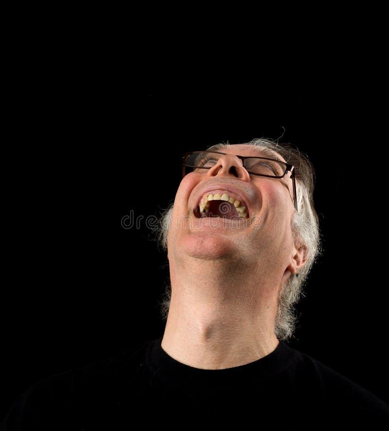 Zamyka w górę portreta headshot starszy mężczyzna w jego 50 s ` samiec my obrazy royalty free