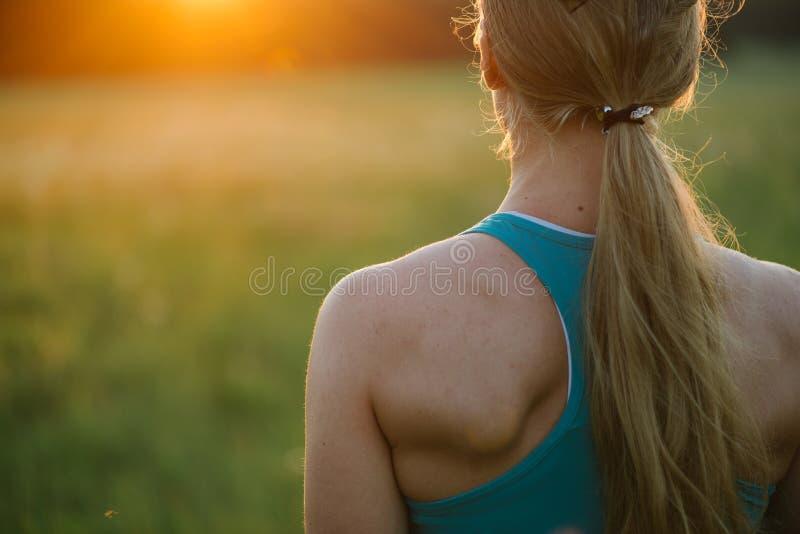 Zamyka w górę portreta sporty kobieta fotografia royalty free