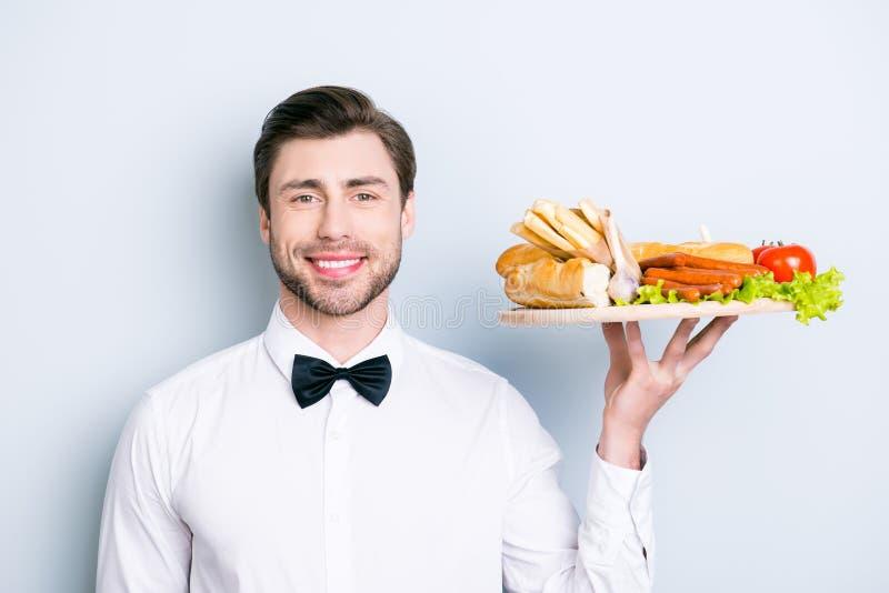 zamyka w górę portreta szczęśliwy życzliwy garcon ubierający w formalnym wea zdjęcie stock
