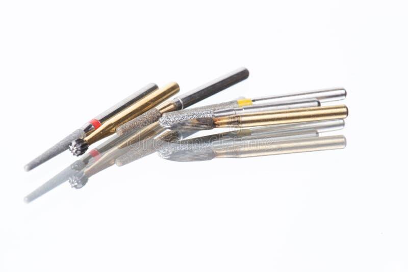 Zamyka w górę rzepu Stomatologicznego karbidowego narzędzia zdjęcie royalty free