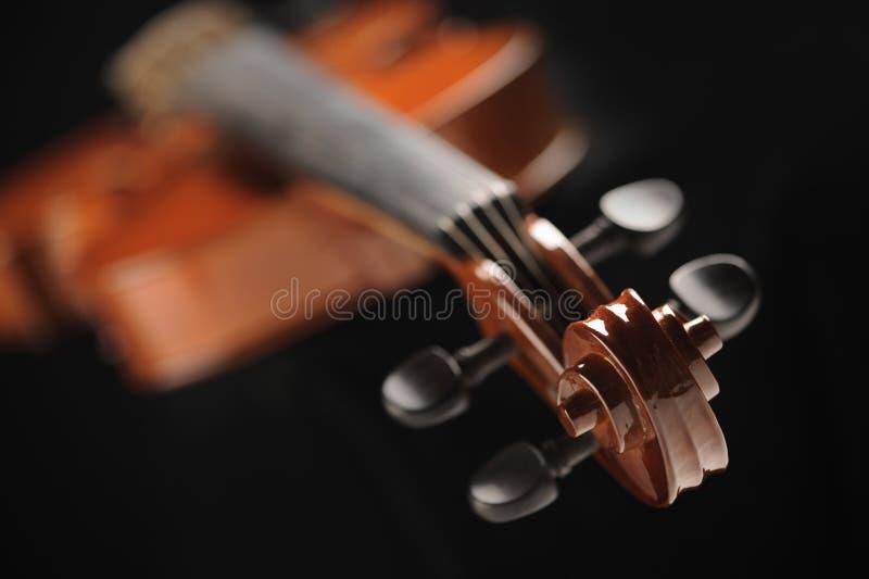 Zamyka w górę strzału skrzypce obrazy stock