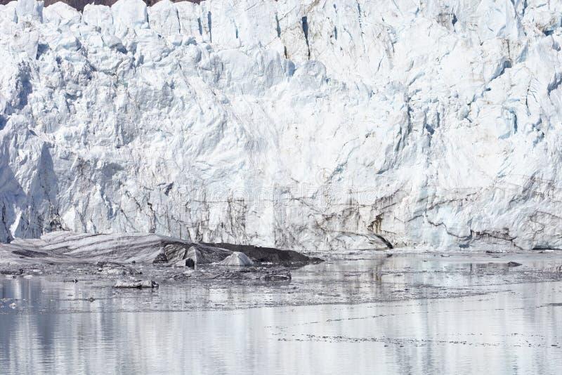 Zamyka W górę szczegółu lodowiec W lodowiec zatoki Alaska usa obraz stock