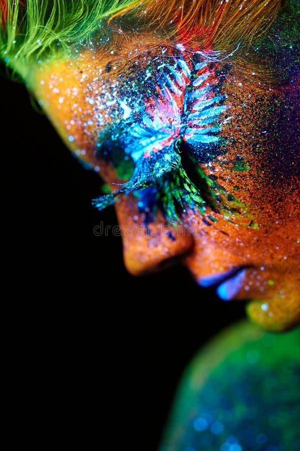 Zamyka w górę ULTRAFIOLETOWEGO portreta fotografia royalty free