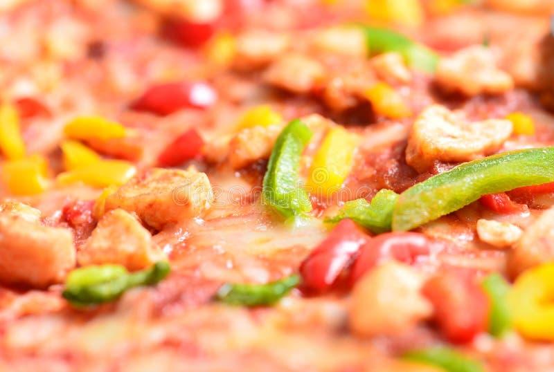 Zamyka w górę wizerunku smakowita bbq pizza zdjęcia stock
