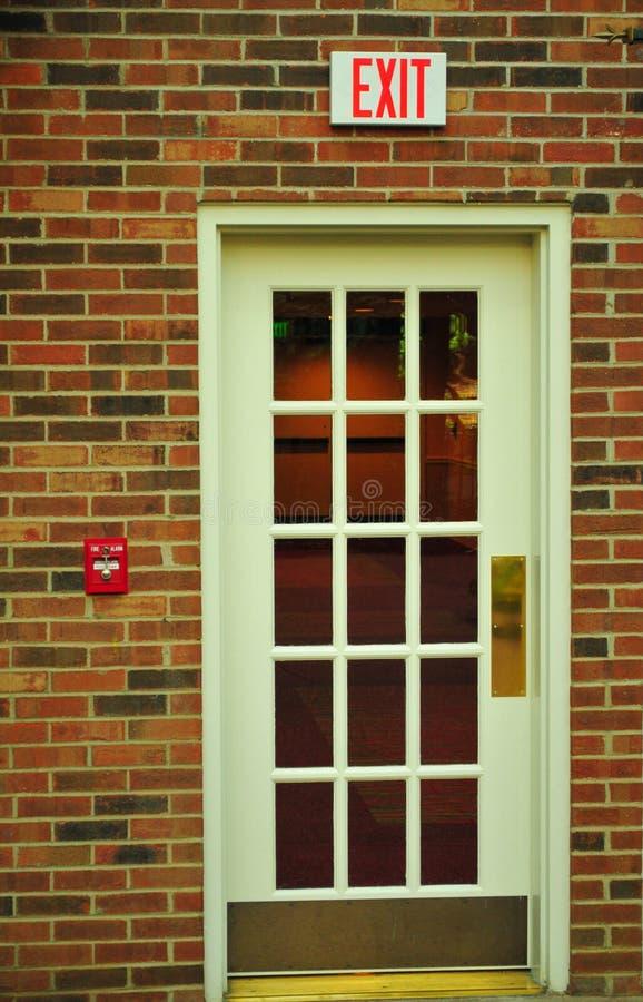 Zamyka w górę wyjścia drzwi zdjęcia royalty free