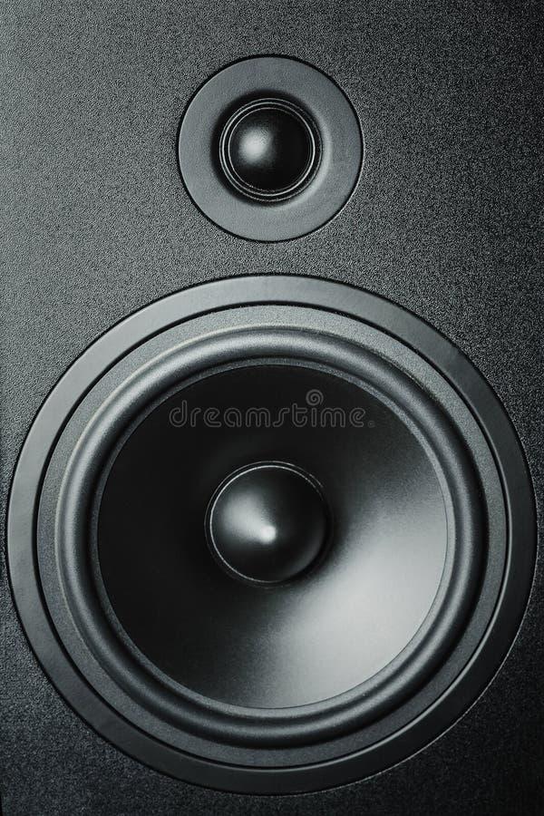 Zamyka w górę wysokie i niskie - częstotliwość mówcy, błona audia mówca zdjęcie royalty free