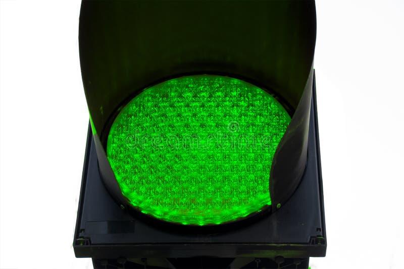 Zamyka w górę zielone światło ruchu drogowego bieg znaka zdjęcie stock