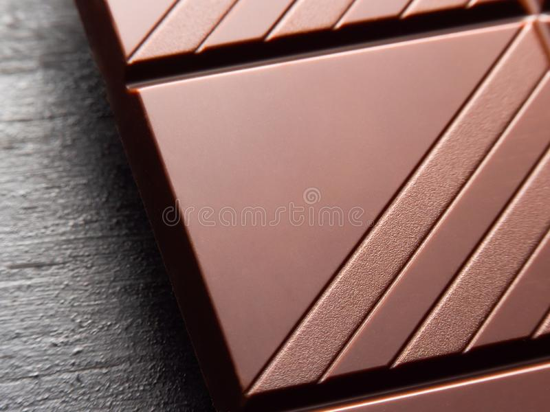 Zamyka w g?r? czekoladowego baru obraz royalty free