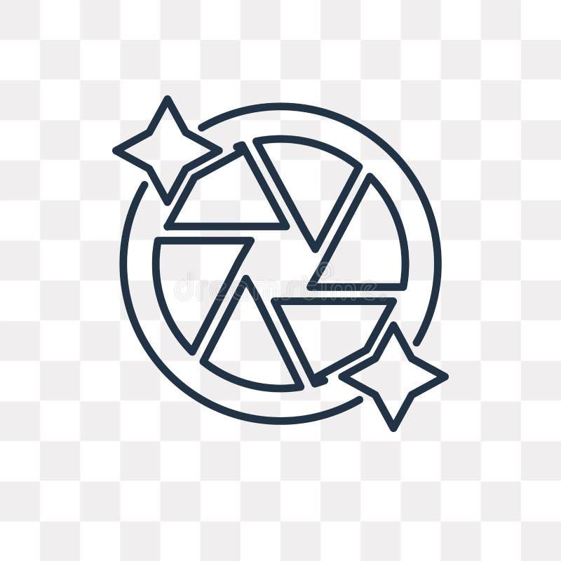 Zamyka wektorową ikonę odizolowywającą na przejrzystym tle, liniowy S ilustracja wektor