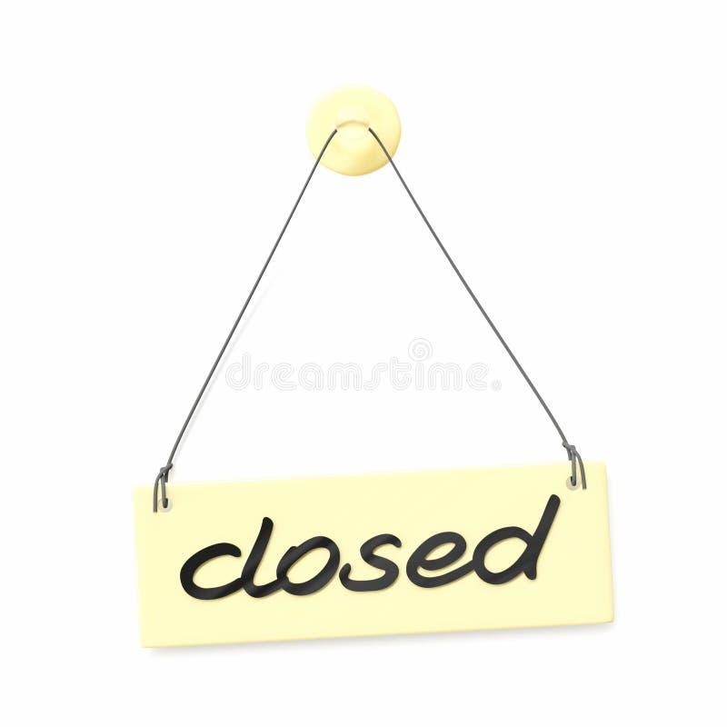` Zamykający ` drzwi znak ilustracja wektor