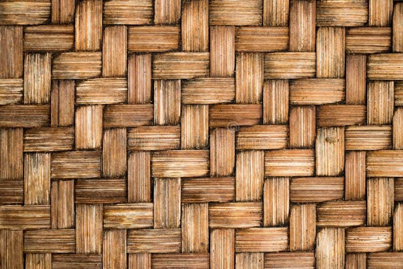 Zamykający up brown kolor drewniany wyplata tekstury tło zdjęcie stock