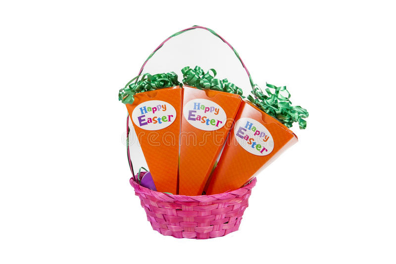 Zanahoria de Pascua imagen de archivo