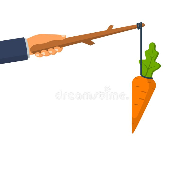 Zanahoria en un palillo Concepto incentivo libre illustration