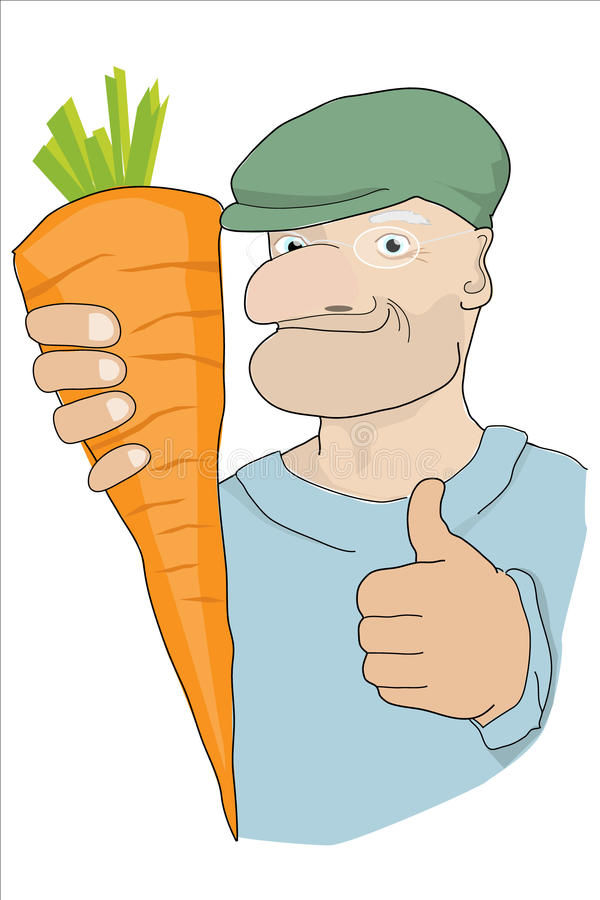 Zanahoria que gana foto de archivo