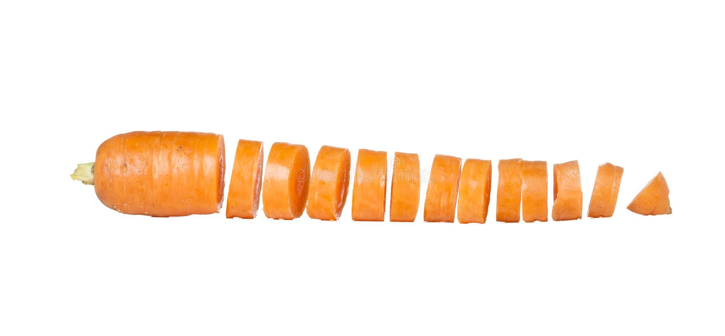 Zanahoria rebanada foto de archivo libre de regalías