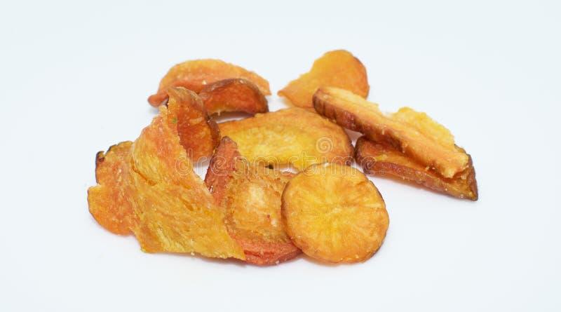 Zanahoria secada en el fondo - comida sana de la legumbre de frutas imágenes de archivo libres de regalías