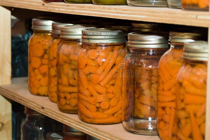 Zanahorias conservadas fotos de archivo libres de regalías