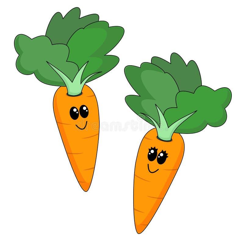 Zanahorias de la historieta stock de ilustración
