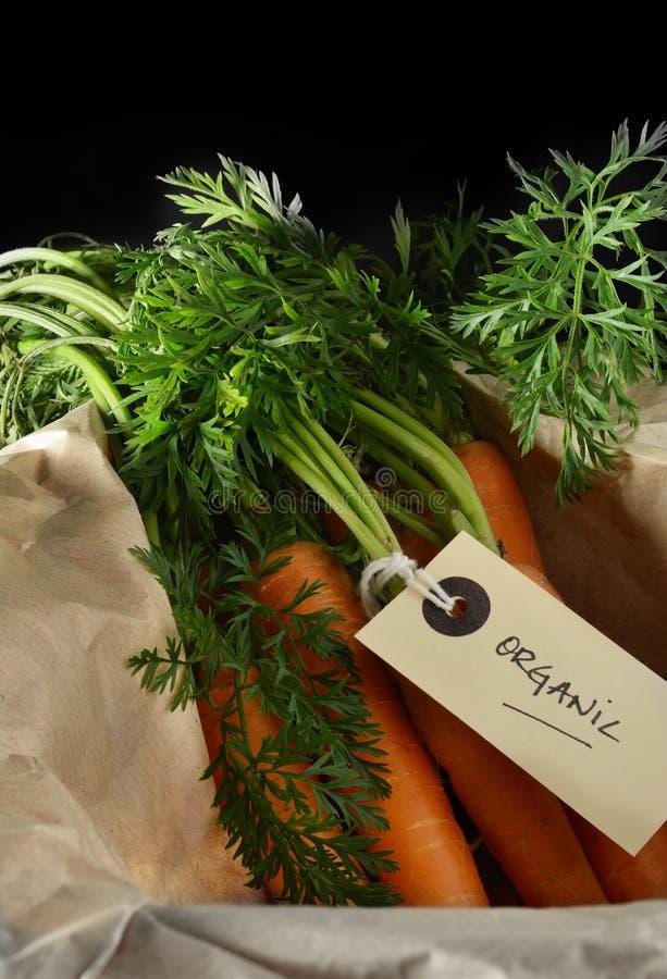 Zanahorias orgánicas fotos de archivo