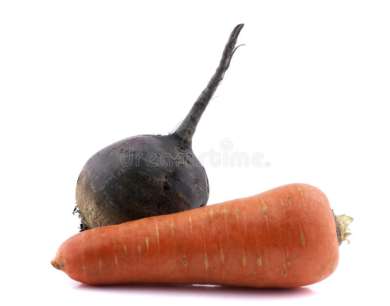 Zanahorias y remolachas orgánicas frescas imágenes de archivo libres de regalías