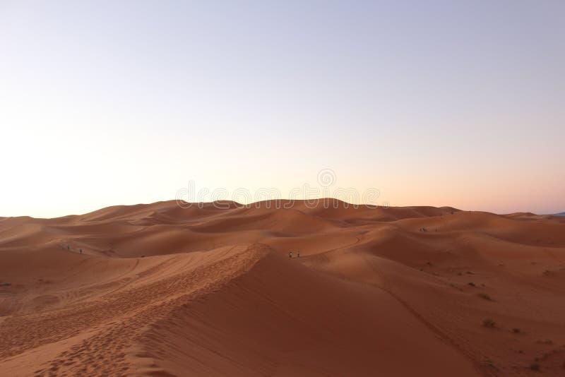 Zand in de Sahara, Morocca Afrika royalty-vrije stock fotografie