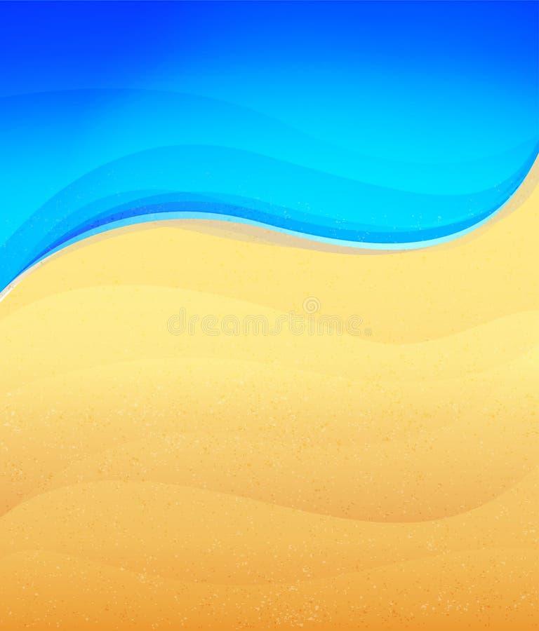 Zand en overzees vector illustratie