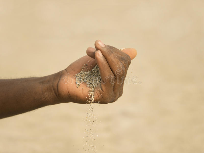 Zand - ontvolking in de Sahel royalty-vrije stock afbeelding