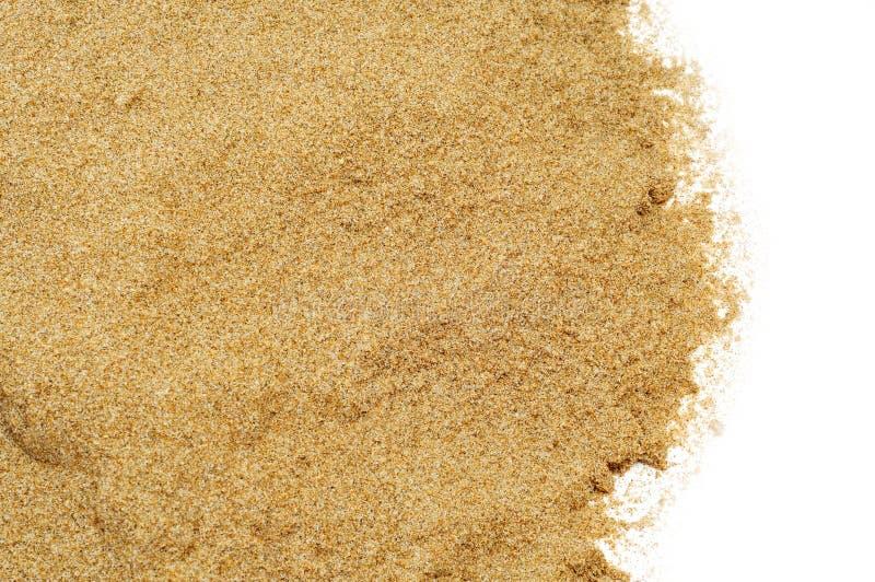 Zand op een witte achtergrond stock foto