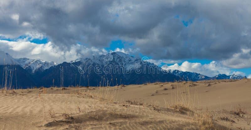 Zand van Chara woestijn stock afbeeldingen