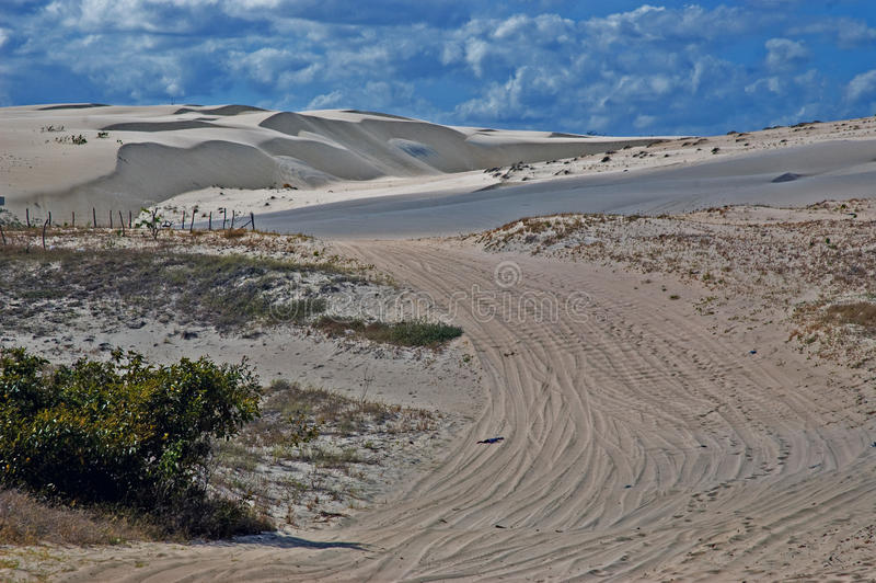 Zand van Cumbuco stock foto's