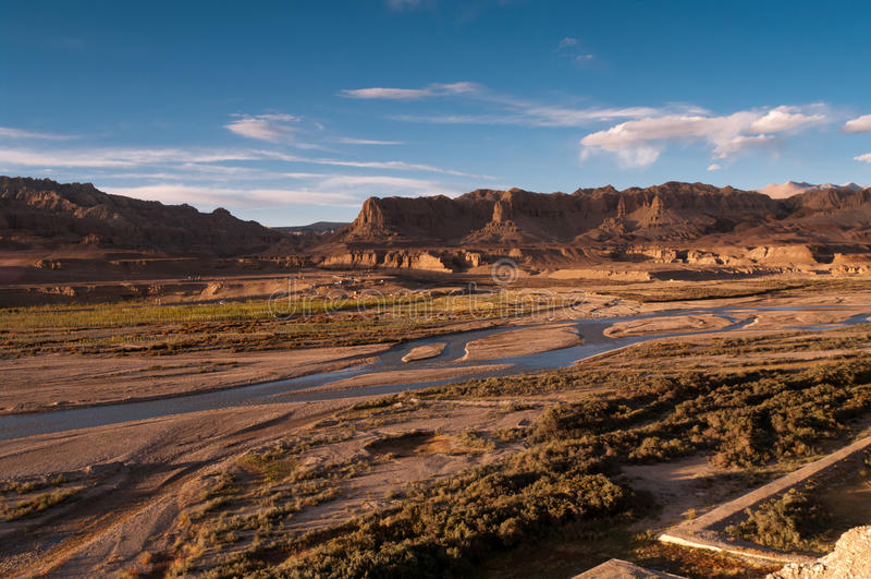 Zanda, Tibet stock fotografie