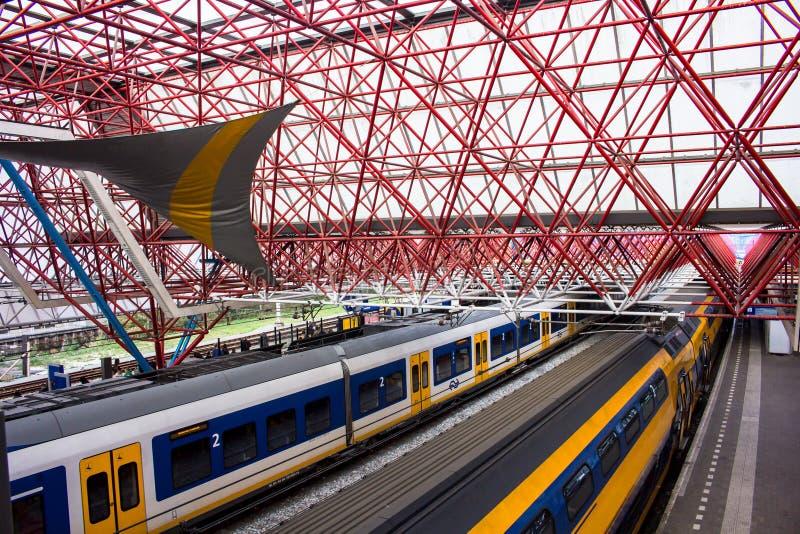 Zandaam train station. The main train station in Zandaam city, The Netherlands stock photography