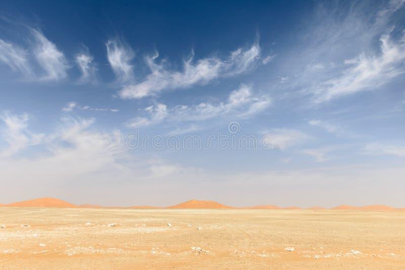 Zandduinen in de woestijn van Oman (Oman) stock afbeelding