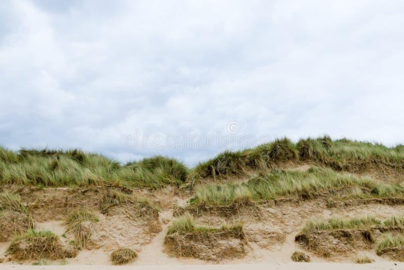 Zandduinen met horizon stock fotografie