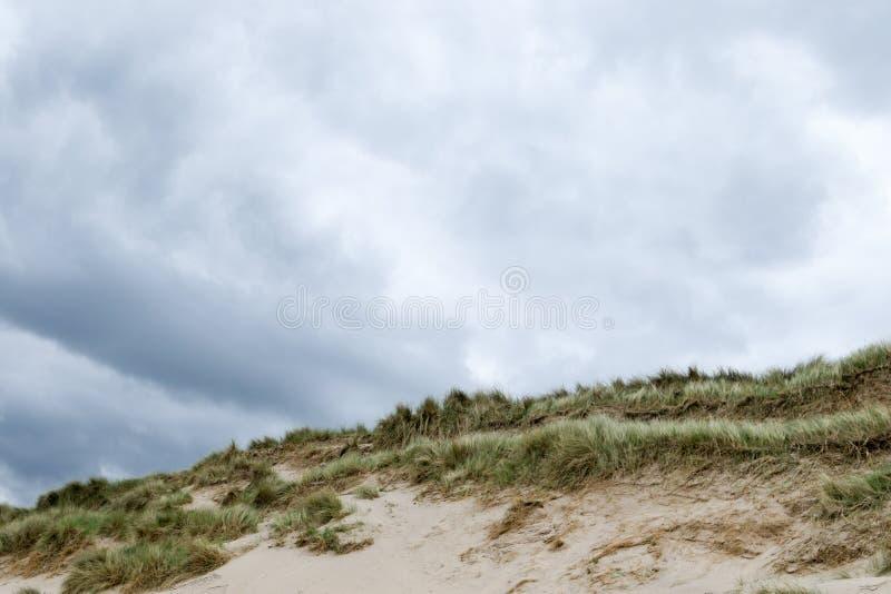 Zandduinen met horizon royalty-vrije stock afbeelding