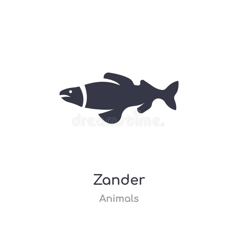zander εικονίδιο απομονωμένη zander διανυσματική απεικόνιση εικονιδίων από τη συλλογή ζώων editable τραγουδήστε το σύμβολο μπορεί απεικόνιση αποθεμάτων