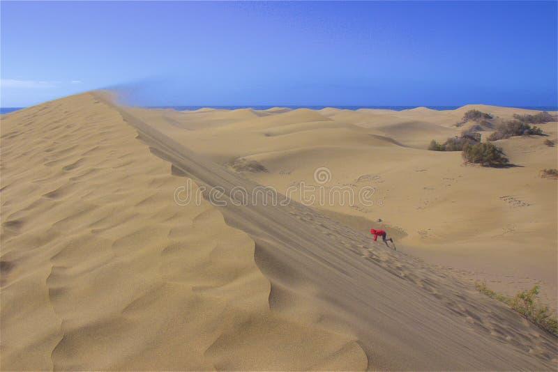 Zandige duinen van Maspalomas, Gran Canaria royalty-vrije stock foto