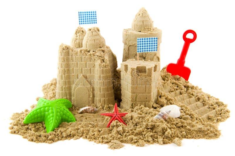 Zandkasteel stock foto