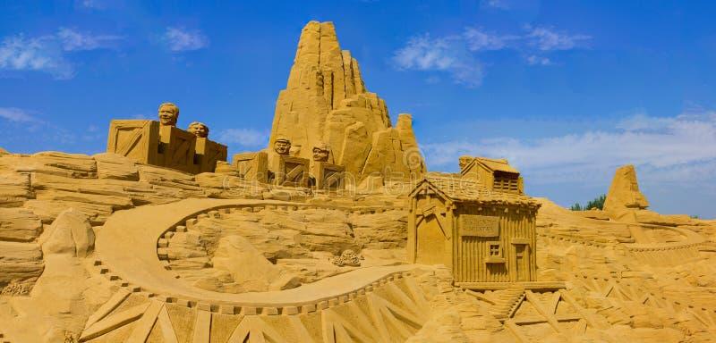 Zandkasteel stock illustratie