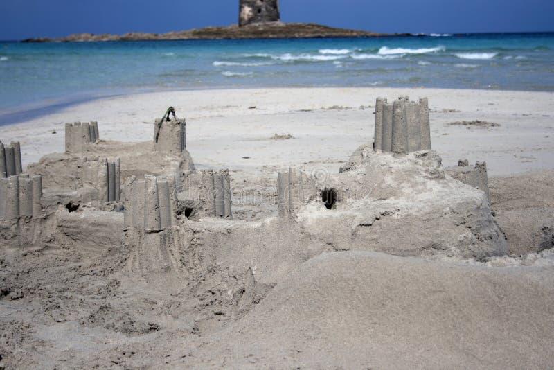 Zandkasteel - Echt kasteel stock fotografie
