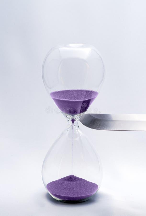 Zandloper - Dodende tijd royalty-vrije stock fotografie