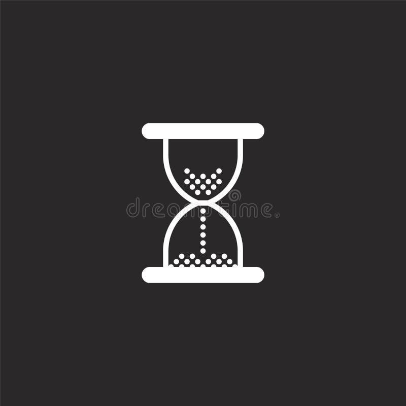 Zandloperpictogram Gevuld zandloperpictogram voor websiteontwerp en mobiel, app ontwikkeling zandloperpictogram van gevulde essen royalty-vrije illustratie