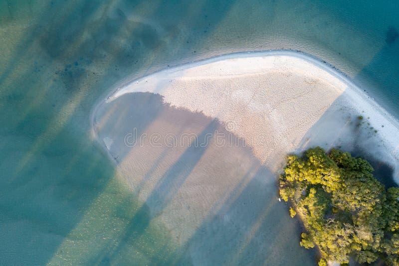 Zandpatronen en Strand het Schrijven stock foto