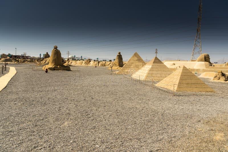 Zandstad Hurghada stock fotografie