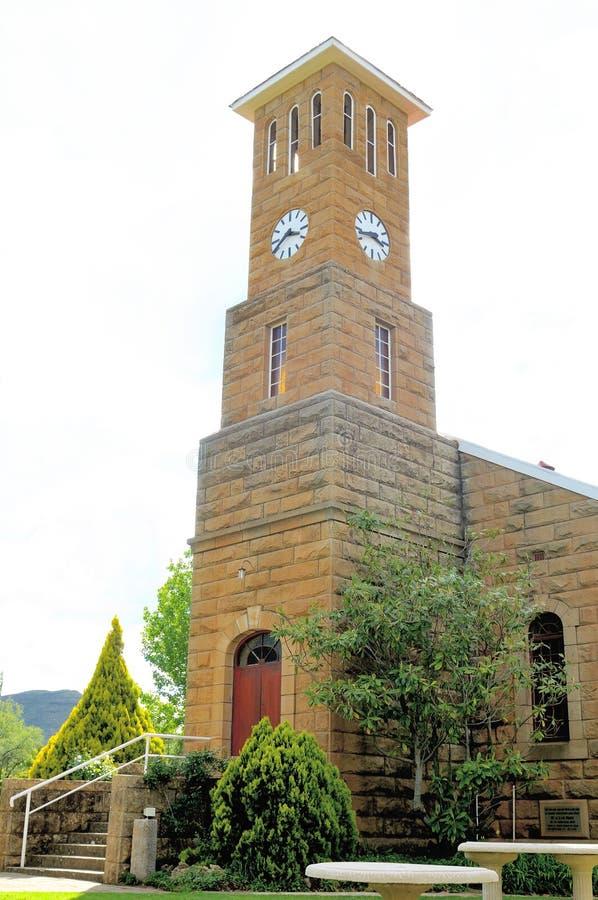 Zandsteenkerk, Clarens, Zuid-Afrika stock foto's