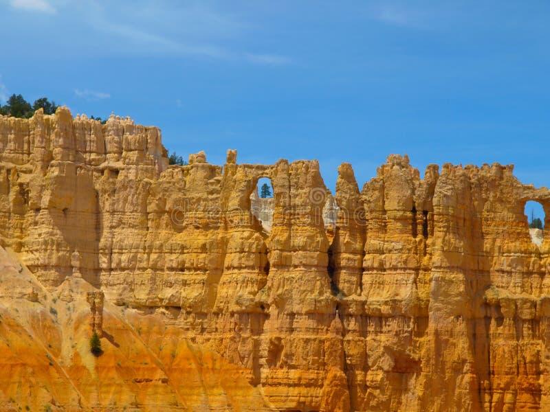 Zandsteenkolommen van Bryce Canyon royalty-vrije stock afbeeldingen